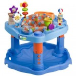 Evenflo Splash Mega Exersaucer : Beach-Themed Activity Center with Interchangeable Toys