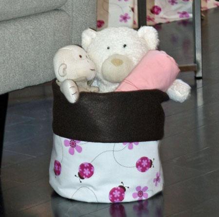 Felt Bucket Tickled Pink