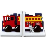 Fire Engine Bookends Complement Any Nursery By Keeping Your Kid's Books Organized