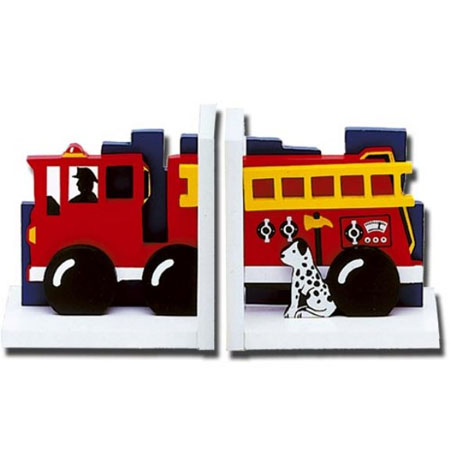 Bookends For Children. fire engine bookends