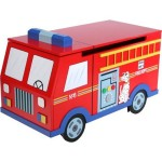 Fire Engine Toy Chest Offers Playful Organizing Of Your Kid's Toys And Accessories
