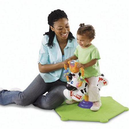 Fisher Price Go Baby Go Bounce and Spin Zebra