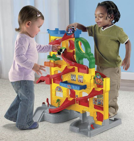 Fisher Price Little People Wheelies Stand 'N Play Rampway