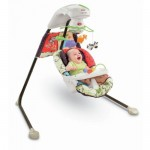 Luv U Zoo Cradle Swing from Fisher-Price With a Plug-In Option