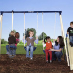 Flexible Flyer Swing 'N Glide III Gym Swing Set for Amazing Outdoor Fun