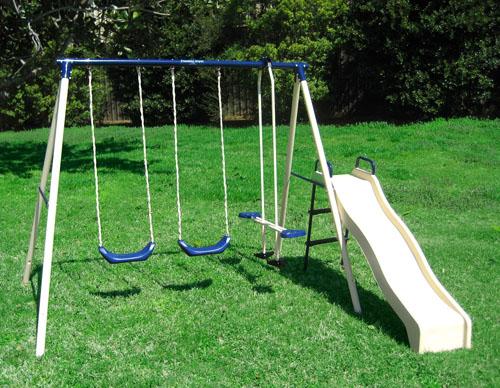 Flexible Flyer Swing N Glide III Gym Swing Set