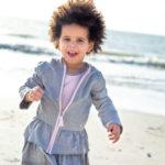 French Terry Organic Toddler Girls Zip Hoodie Provides Lightweight Warmth for Your Little Angel