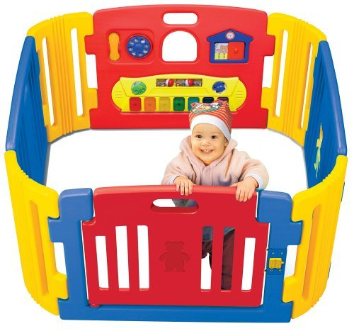 Friendly Toys Little Playzone - Indoor and Outdoor Playpen For Toddlers