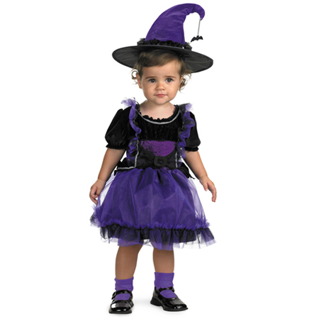 Frilly Witch Baby Costume
