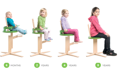 Froc Adjustable High Chair For Toddlers And Kids Modern
