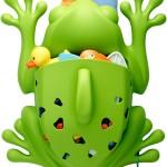 Frog Pod Keeps All Bath Time Toys Safe