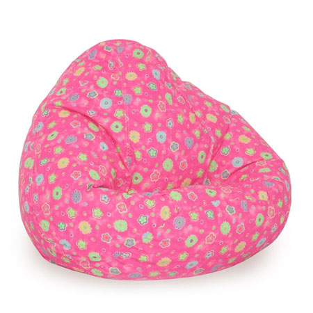 Fun And Comfortable Seating With Elite Pink Flowers Bean