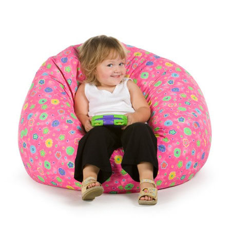 Elite Pink Flowers Bean Bag Chair