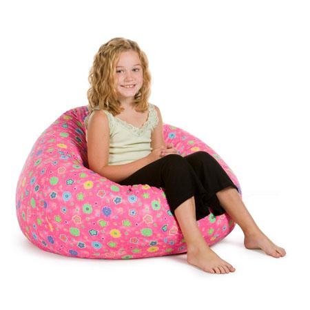 Elite Pink Flowers Bean Bag Chair