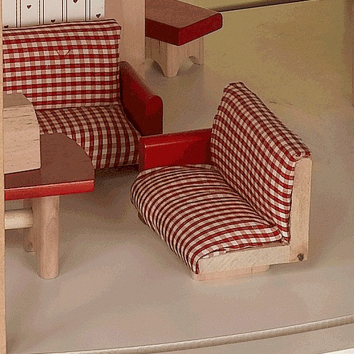 Gift Mark Wood Dollhouse Kit with Furniture
