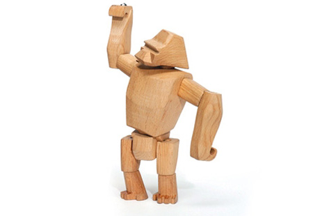 Gorilla Hanno Jr. Wooden Gorilla with Flexible Joints