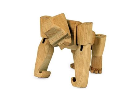 Gorilla Hanno Jr. Wooden Gorilla with Flexible Joints