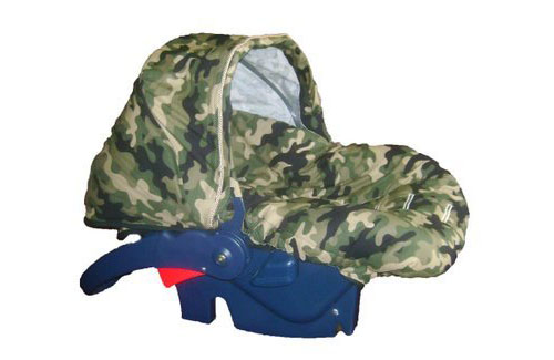 Green Camouflage Infant Carseat Cover - Camouflage Stroller and Carseat Cover