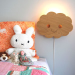 Cute Happy Cloud Lamp is Handcrafted for Children Bedroom