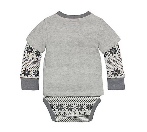Henley 2fer Thermal Bodysuit by Burt's Bees Baby