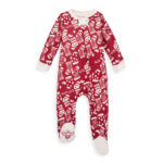 Cute Red Holiday Stockings Organic Sleep and Play Pajamas for Your Little Angel this Christmas