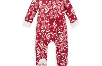 Cute Red Holiday Stockings Organic Sleep & Play Pajamas for Your Little Angel