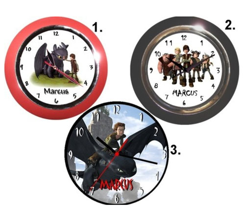 How to train your dragon wall clock - How to Train Your Dragon Bedroom Decor