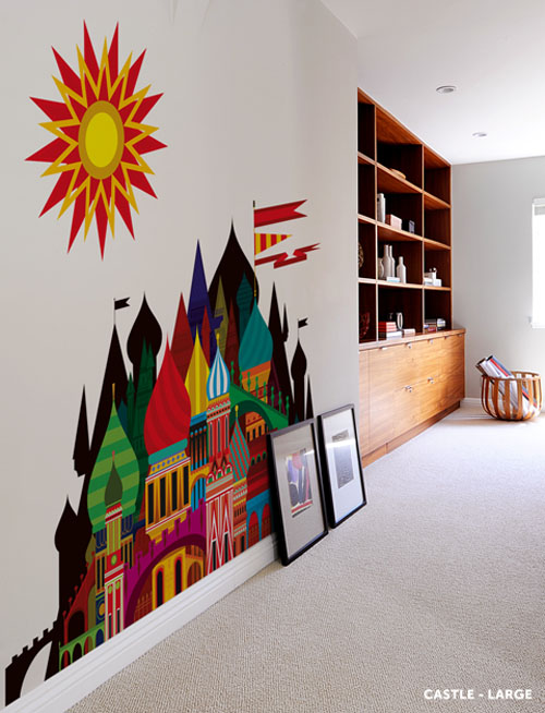 Imaginary Castle Wall Decal by Patrick Hruby