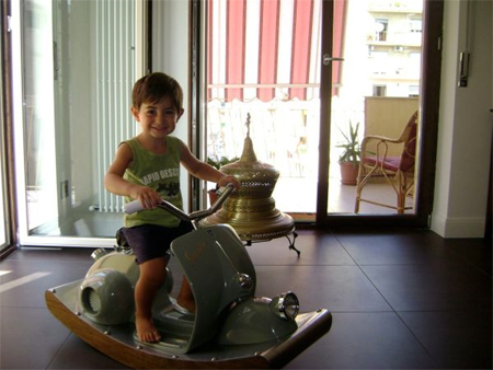 Innovative Vespa Rocking Horse Diego