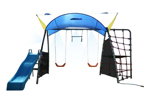 IronKids Challenge 300 Refreshing Mist Swing Set Can Be An Addicted Mini Playground for Kids