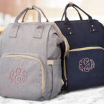 Modern, Personalized Diaper Bag with Beautiful Embroidered Monogram
