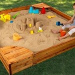 Build Sand Castles from The Backyard with Kidkraft Backyard Sandbox