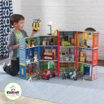 KidKraft Everyday Heroes Play Set Where Almost Anything Is Made Out of Real Wood