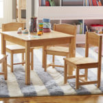 KidKraft Farmhouse Kids 5 Piece Square Table and Chair Set Is Made of Solid Wood Can Last for Years