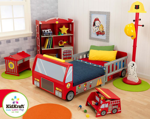 Kidkraft Fire Truck Toddler Bed In Bright Red For Your Little