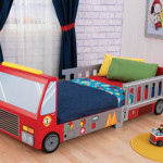 Kidkraft Fire Truck Toddler Bed in Bright Red for Your Little Firefighter