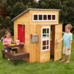 Kidkraft Modern Outdoor Playhouse with Built-In Kitchen to Enjoy Summer and During Stay-at-Home Orders