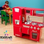 KidKraft Red Retro Kitchen For Young Little Chefs
