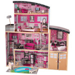 KidKraft Sparkle Wooden Mansion Is A Glamorous Dollhouse with 30 Pieces of Furniture