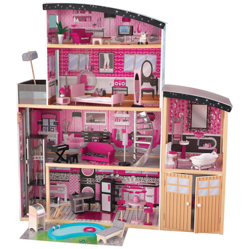 KidKraft Sparkle Wooden Mansion Dollhouse