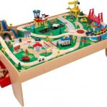 KidKraft Waterfall Mountain Train Table Set Teaches Your Children About Traffic and Signs