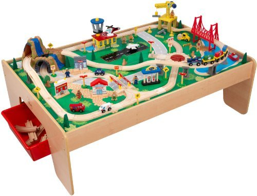 Gentil KidKraft Waterfall Mountain Train Table Set