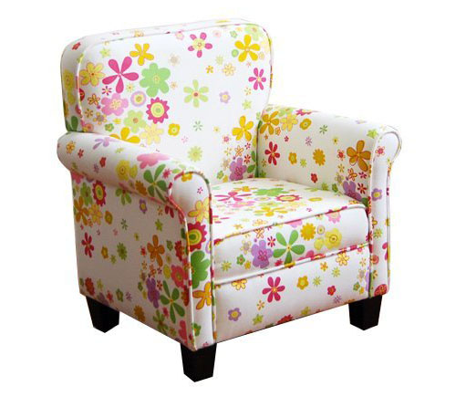 Kinfine Girls Pink Mini Dot Chair Beautiful Floral
