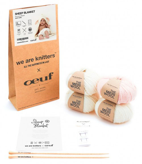 Cute Baby Sheep Blanket Knitting Kit