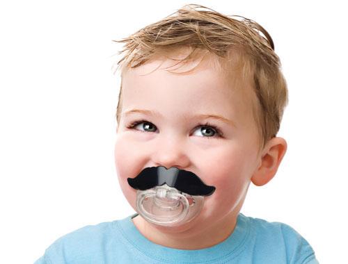 Li'l Shaver Mustache Pacifier