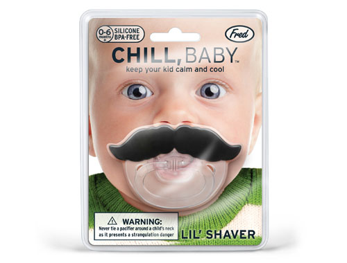 li l shaver mustache pacifier makes your baby looking so cute modern baby t. Black Bedroom Furniture Sets. Home Design Ideas