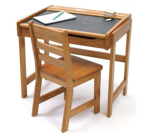 Lipper International Child's Chalkboard Desk and Chair Set