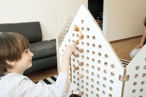 Little houses Sensory Play Space Divider by Neringa Orlenok