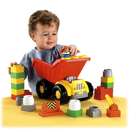 little people builders dump truck
