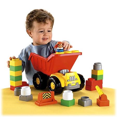 little people builders dump truck